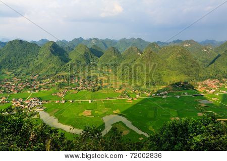 Sunrise mountain at Bac Son town, Lang Son province, Vietnam
