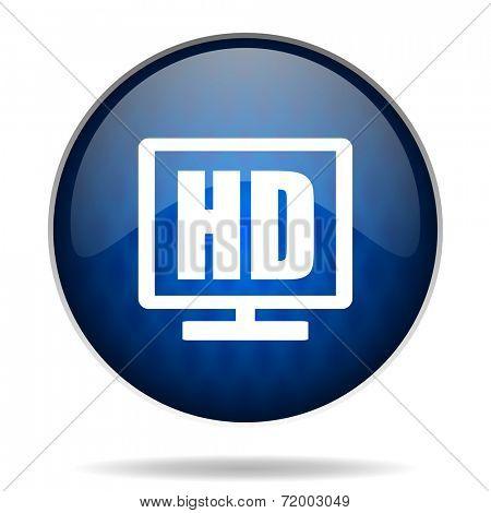 hd tv  internet blue icon