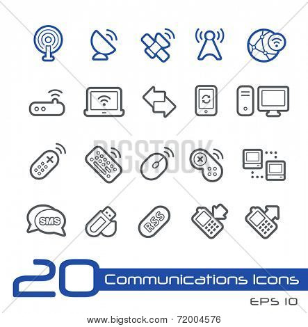 Wireless Communications Icons // Line Series