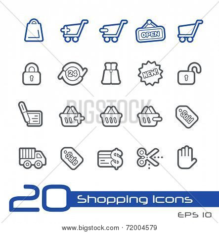 e-Shopping Icons // Line Series