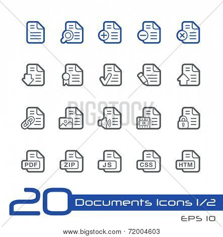 Documents Icons - 1 of 2 // Line Series