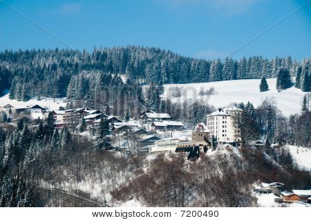 Small German Village In Winter