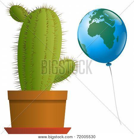 Balloon Africa Europe Cactus