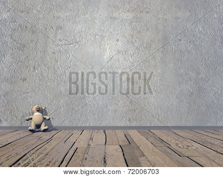 Small Teddy bear - 3D render