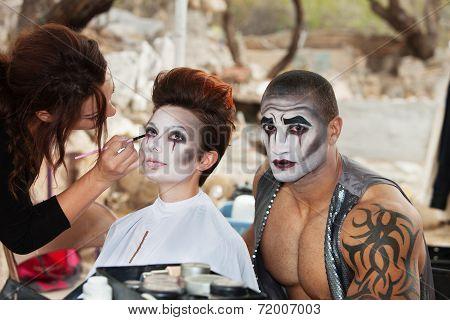 Clowns Getting Makeup