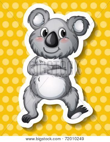 Illustration of a single koala bear