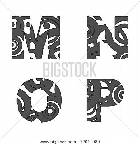 Abstract Alphabet Letters