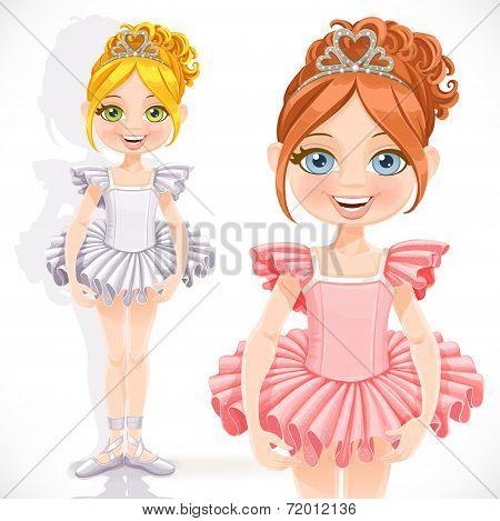 Beautiful ballerina girl in tiara