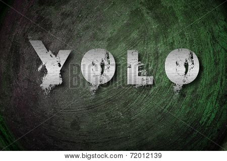 You Only Live Once Concept text on background