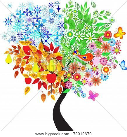 Seasons Tree, Vector Tree