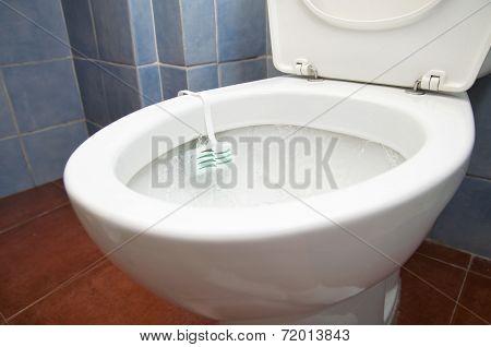 Toilet with deodorant