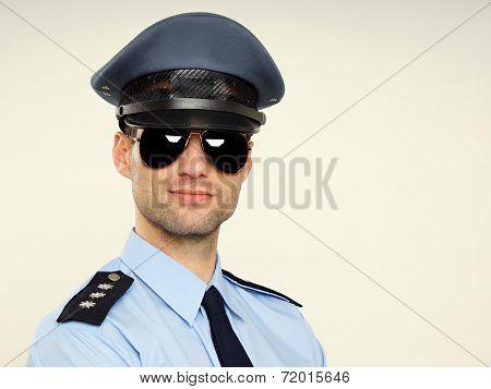 Portrait of handsome policeman