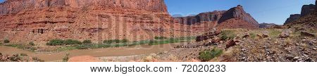 Colorado River desert panorama