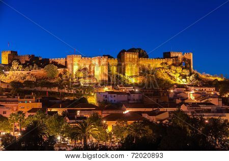 Night Panorama Of Silves