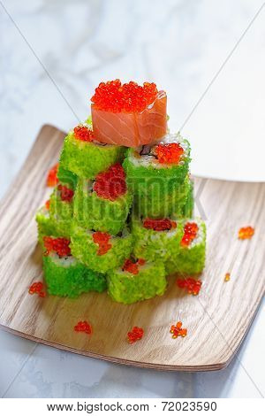 Maki Sushi Roll for Christmas