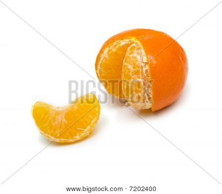 Ripe Mandarin Without One Lobule