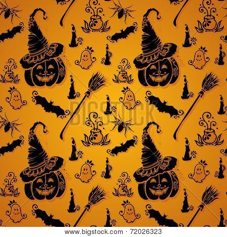 Seamless Halloween Pattern (Vector)
