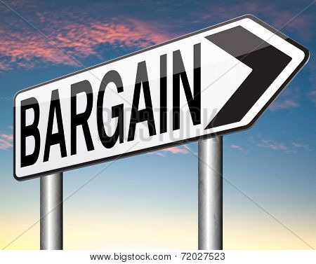 special offer or bargain at lowest and best price making a great deal with major reduction