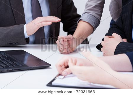 Closeup Of Woman Making Decision