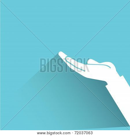 entreat hand sign