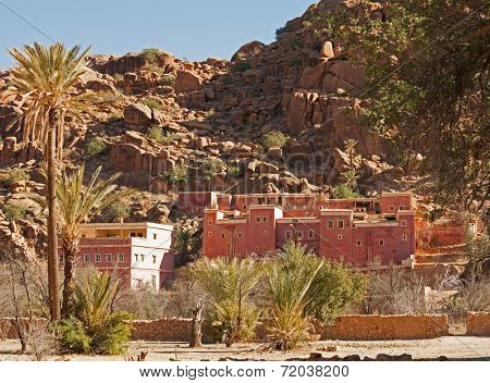 Village near Tafraout. It is located in the Anti-Atlas mountains in southern Morocco.