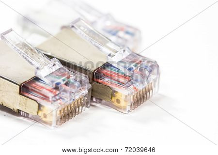 Close Up Computer Network Cables