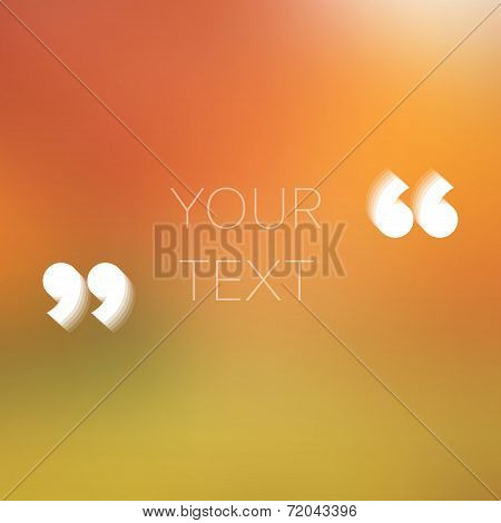 Abstract Poster Style Text With Quotation Marks - Place For Your Text - Vector Illustration