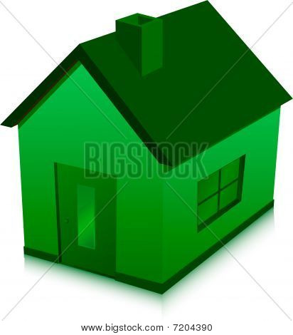 green house vector illustration