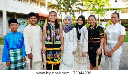 Multiracial Children Of Malaysia