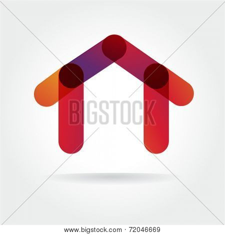 Abstract colored vector icon isolated on white background for design