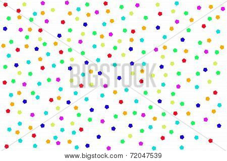 Background With Colorful Pentagon On White