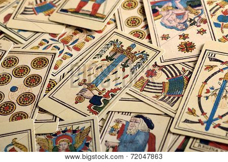 Full Frame Of Tarot Cards
