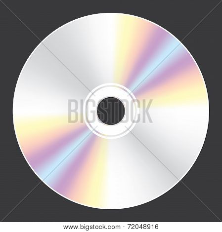 Blank Compact Disc Isolated On White Background