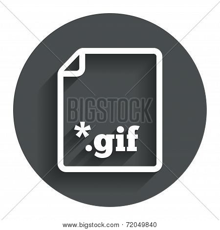 File GIF sign icon. Download image file.
