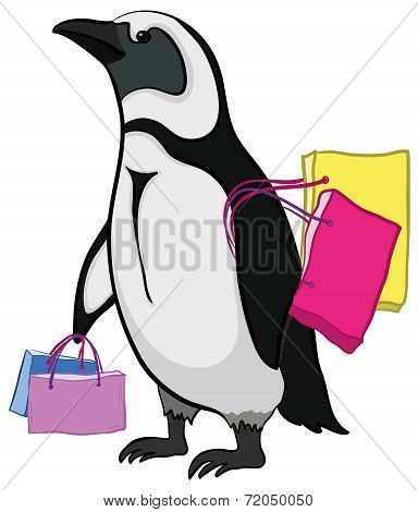 Penguin with bags