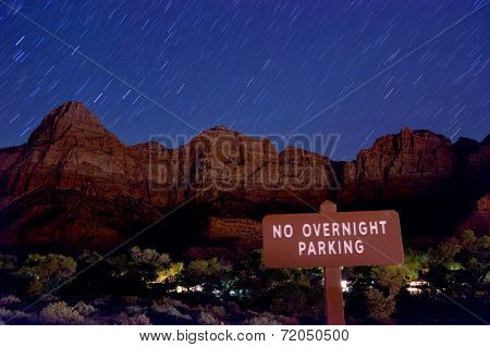 night scenery in zion national park
