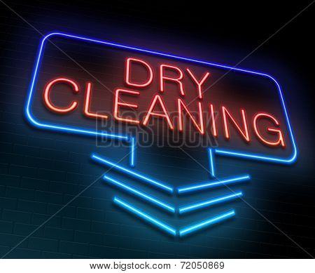 Dry Cleaning Concept.