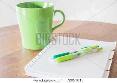 Set Of Work Table With Hot Cup