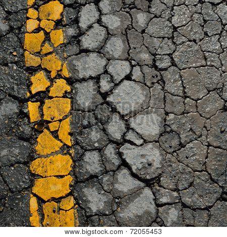 Asphalt Road Crack Texture Background