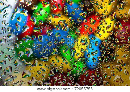 Candy Under Water Droplet Background