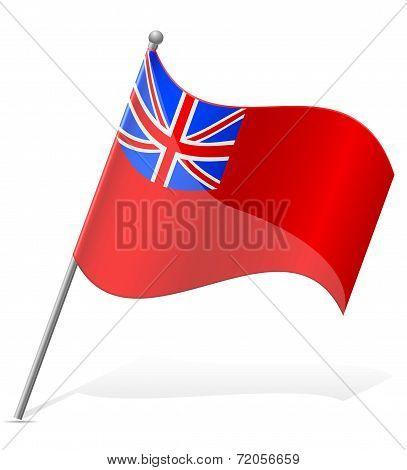 Flag Of Bermuda Island Vector Illustration