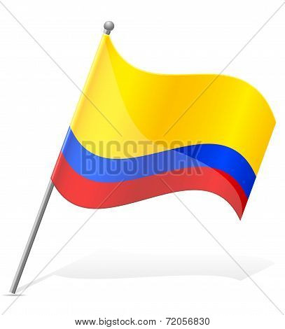 Flag Of Colombia Vector Illustration