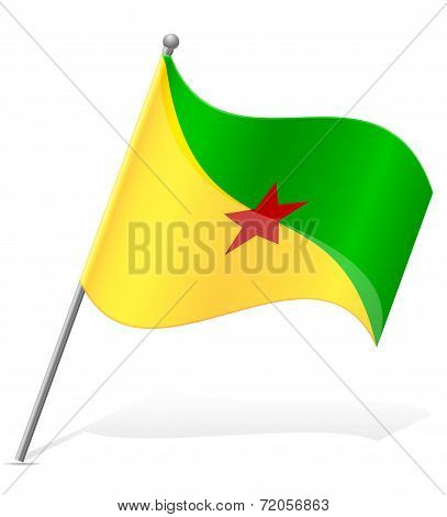 Flag Of French Guiana Vector Illustration