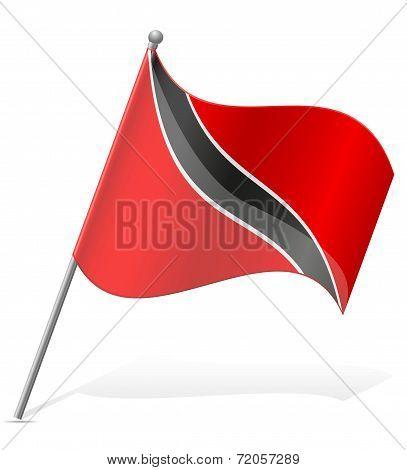 Flag Of Trinidad And Tobago Vector Illustration