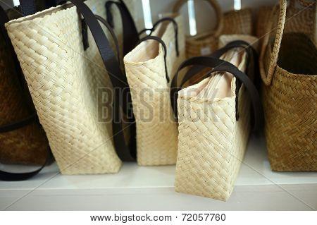 Rattan Bag On Shelves
