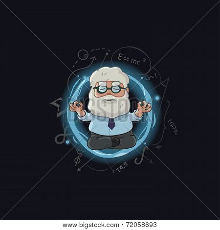 Cartoon Illustration Of Scientist Character
