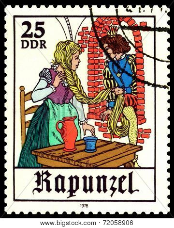 Vintage  Postage Stamp.  Scenes From  Fairy Tale