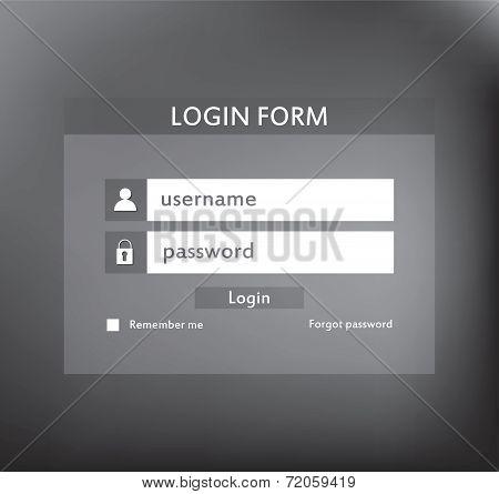 Modern login form for website