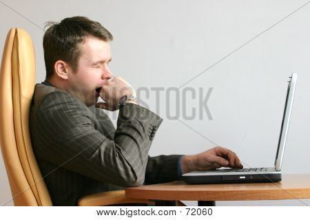 Bored, Yawning Businessman