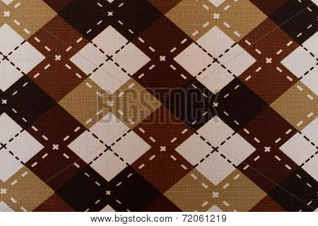 Fabric Plaid Texture. Cloth Background Or Texture